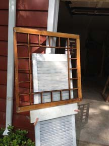 Window restoration easel