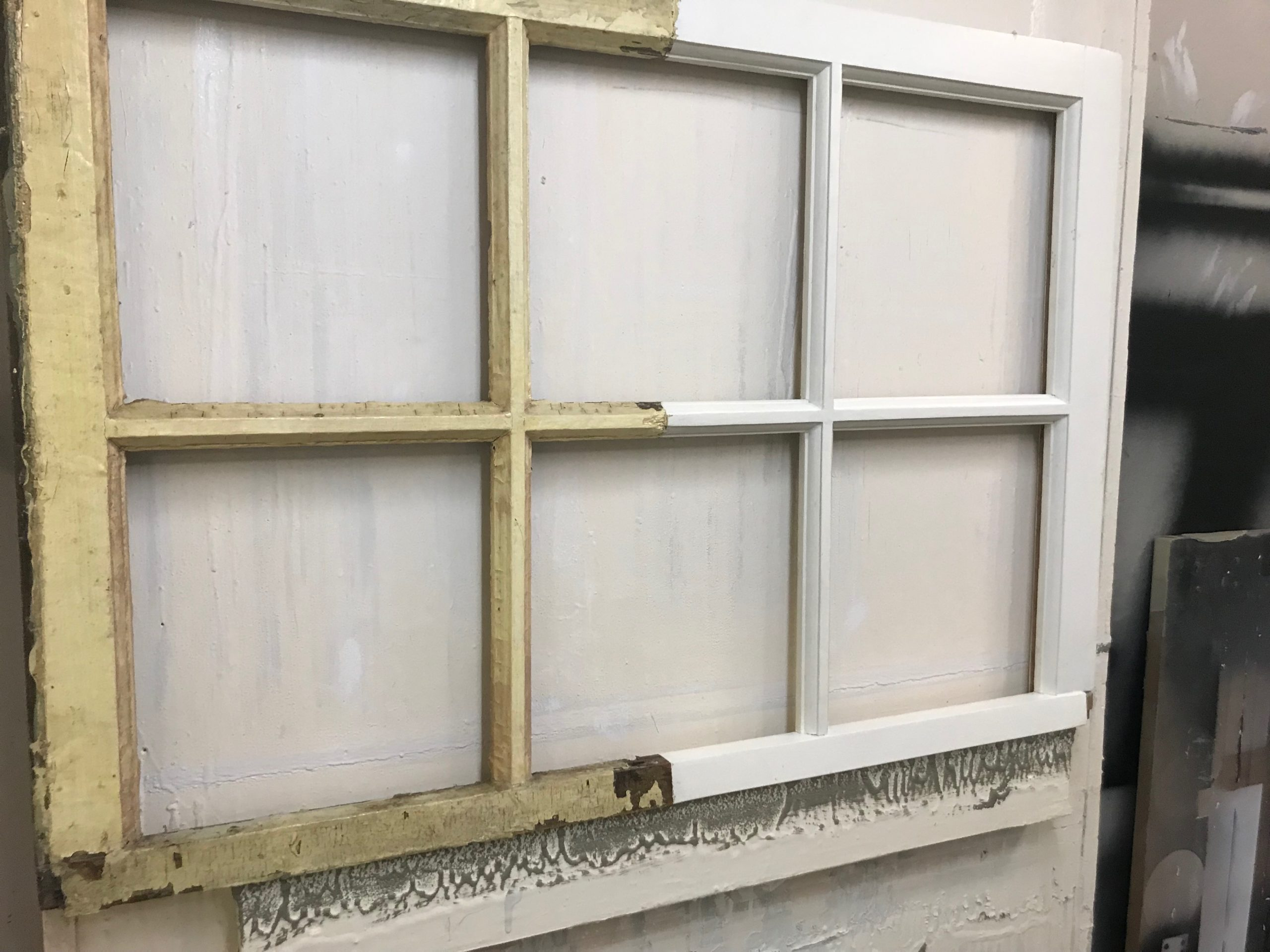 Half Restored Window Sash
