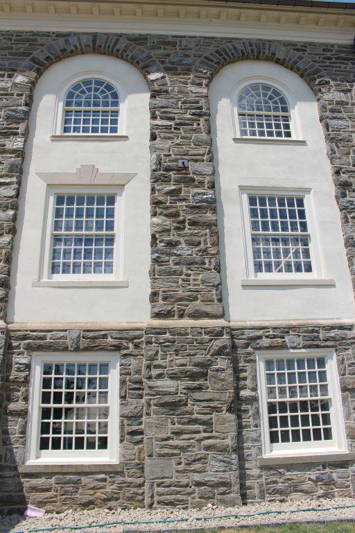 Exterior view of custom windows