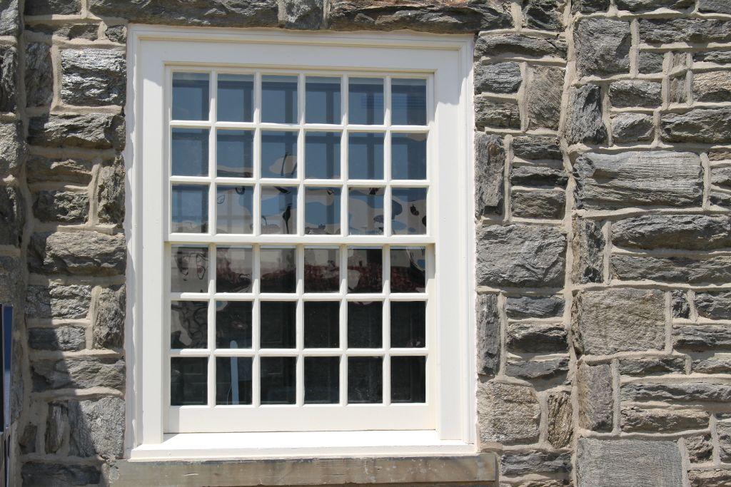 Window with new restoration glass