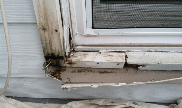 Rotten window sill